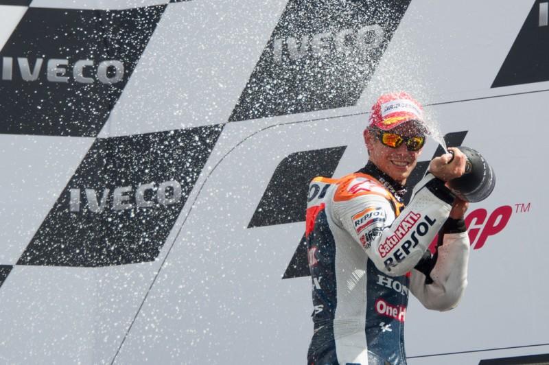 MotoGP, 2012 Iveco TT Assen, Casey Stoner on podium.