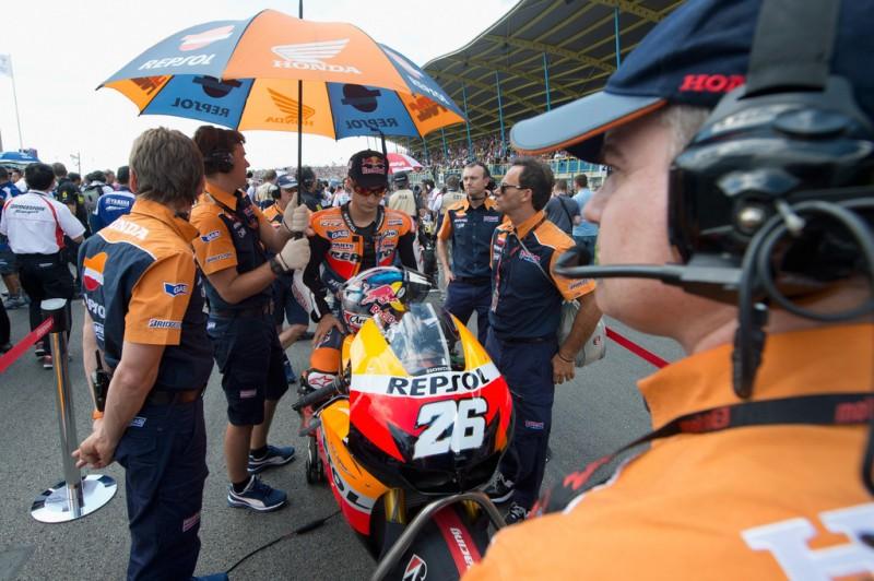 MotoGP, 2012 Iveco TT Assen, Dani Pedrosa before race start.