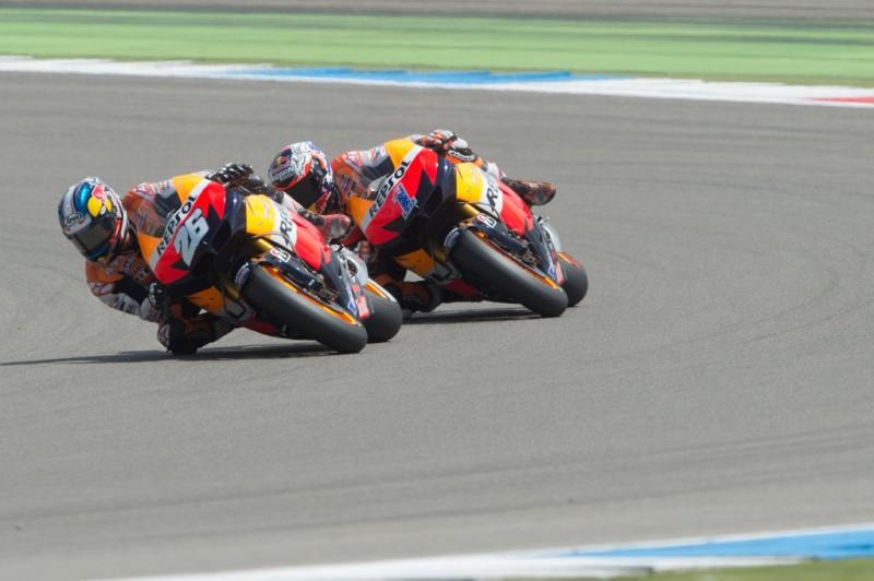 MotoGP, 2012 Iveco TT Assen, Casey Stoner and Dani Pedrosa from Repsol Honda Team.
