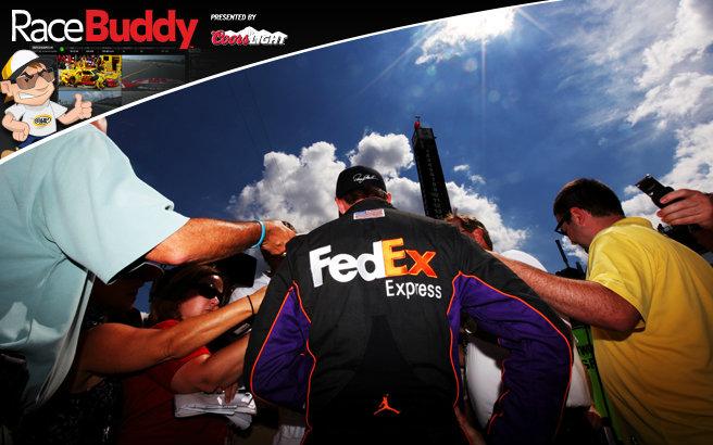 2012 Nascar Cup @ Brickyard 400 - Totoya-Gibbs #11 Denny Hamlin on Pole