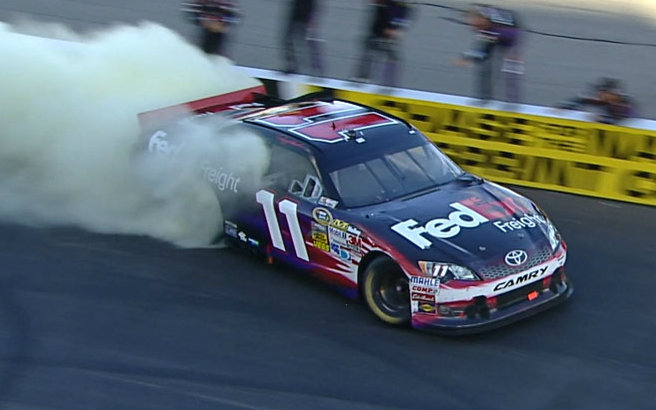 Denny Hamlin made it plain earlier in the week that he was going to win the Sylvania 300 in Loudon. He did just that in the end, dominating the field in a big way for a Cup-high fifth win.
