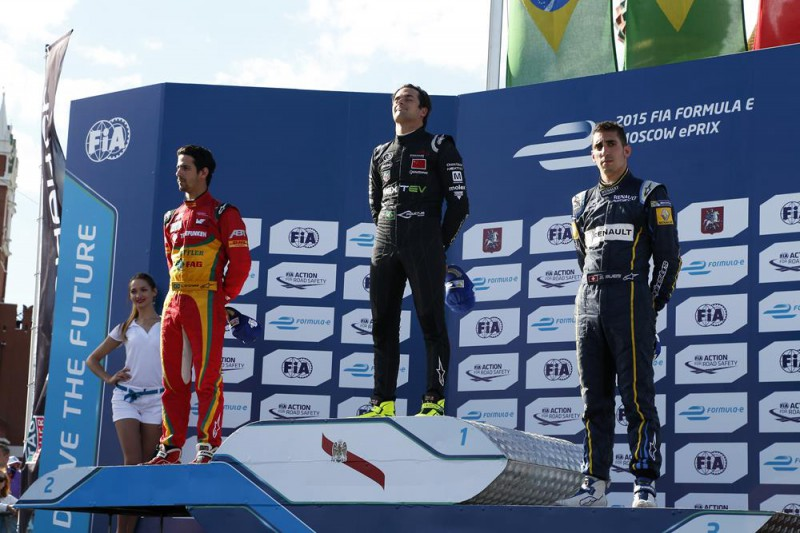 2015 Moscow ePrix - poduim: Nelson Piquet, Jr., Lucas di Grassi, Sebastien Buemi (DSQ later).