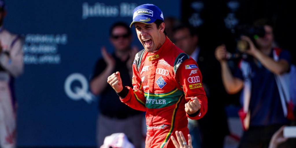 Winner of the first Hydro-Quebec Montreal ePrix and Formula-E 2017 season champion, Lucas di Grassi.