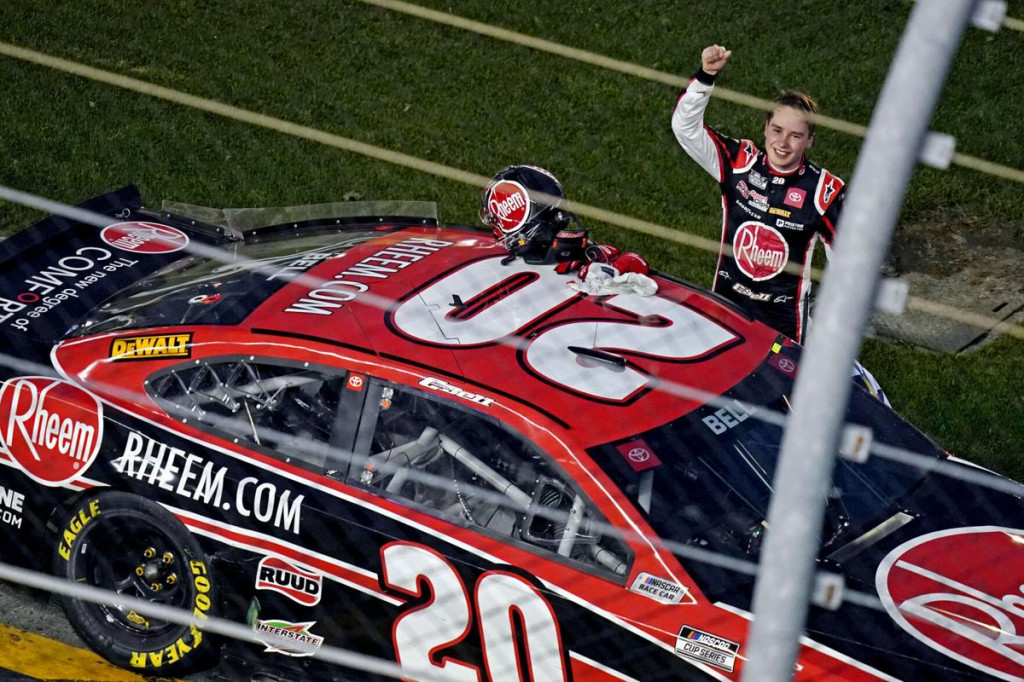 First victory in NASCAR Cup for Christopher Bell.